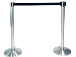 chrome_stanchion_with_black_strap