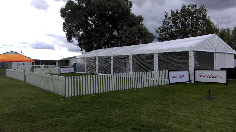 Marquee with picket fence